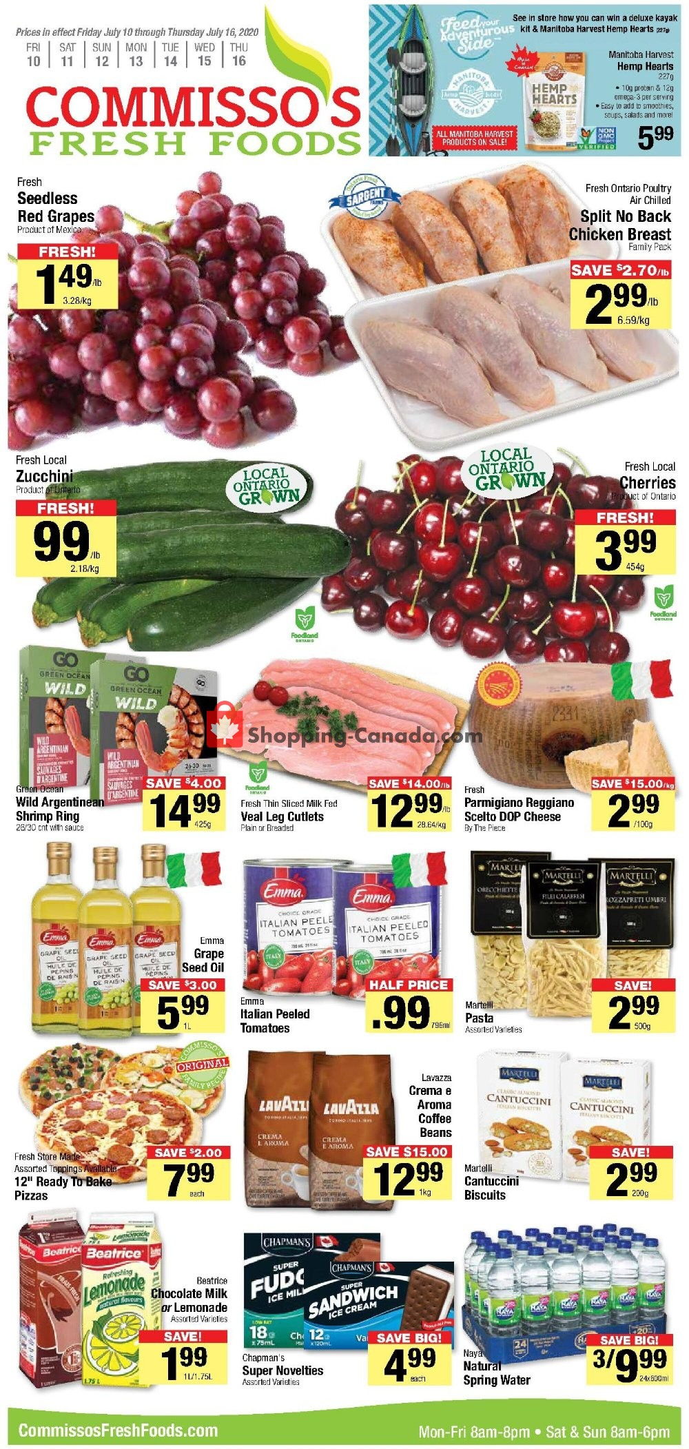 Flyer Commisso's Fresh Foods Canada - from Friday July 10, 2020 to Thursday July 16, 2020