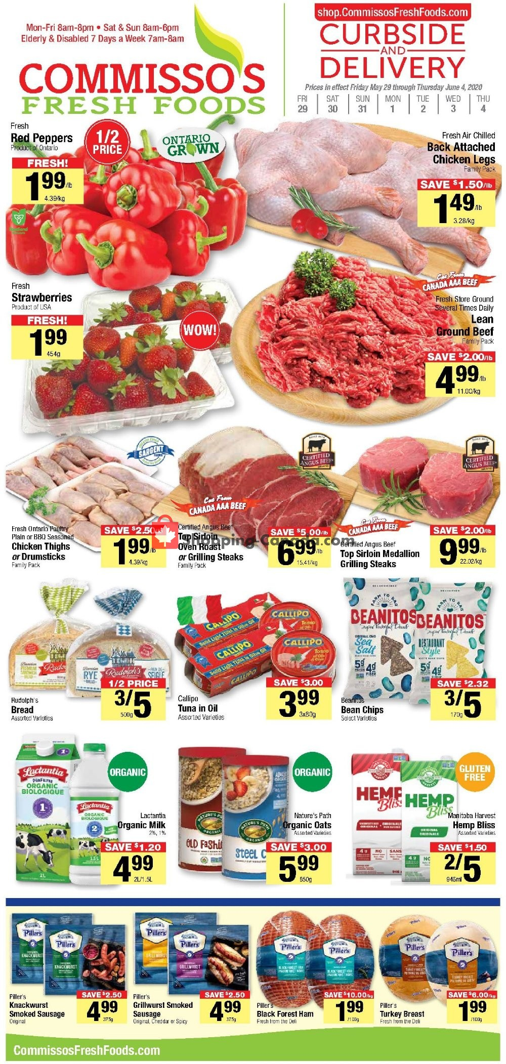 Flyer Commisso's Fresh Foods Canada - from Friday May 29, 2020 to Thursday June 4, 2020