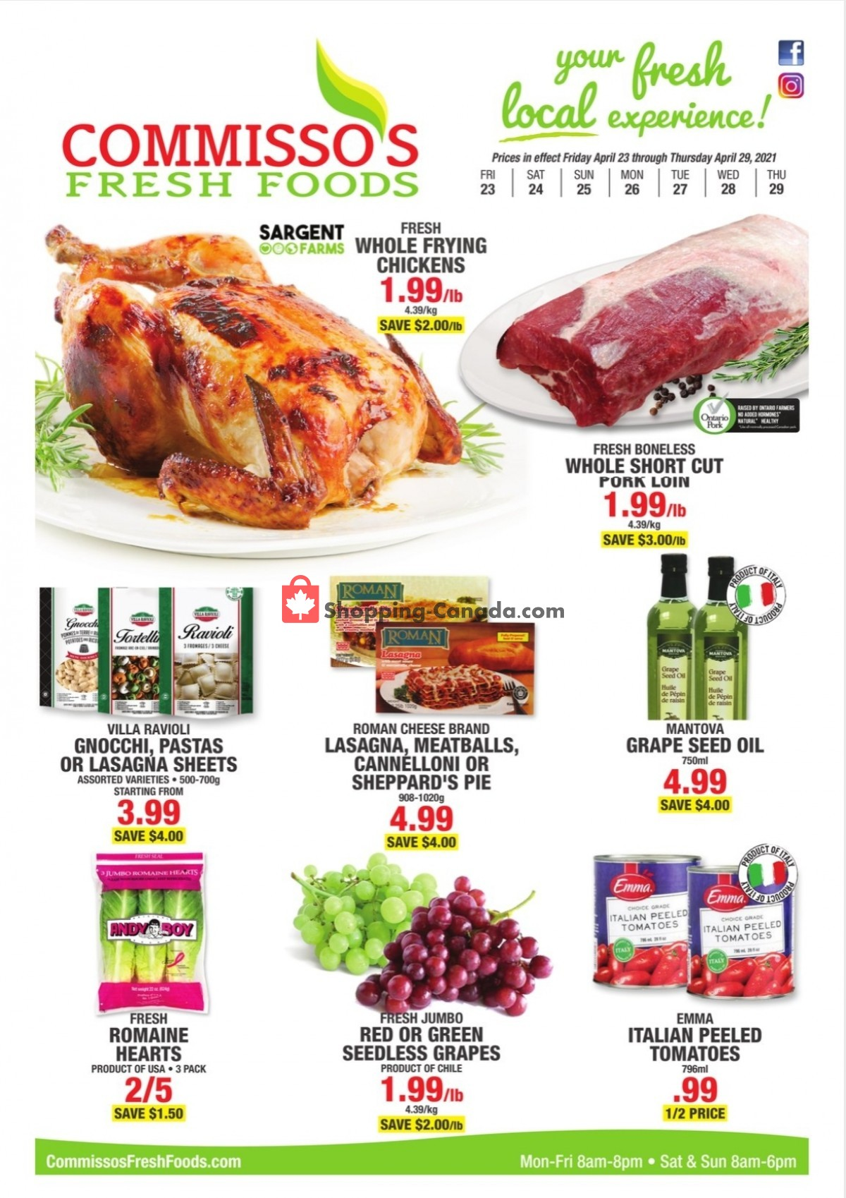 Flyer Commisso's Fresh Foods Canada - from Friday April 23, 2021 to Thursday April 29, 2021