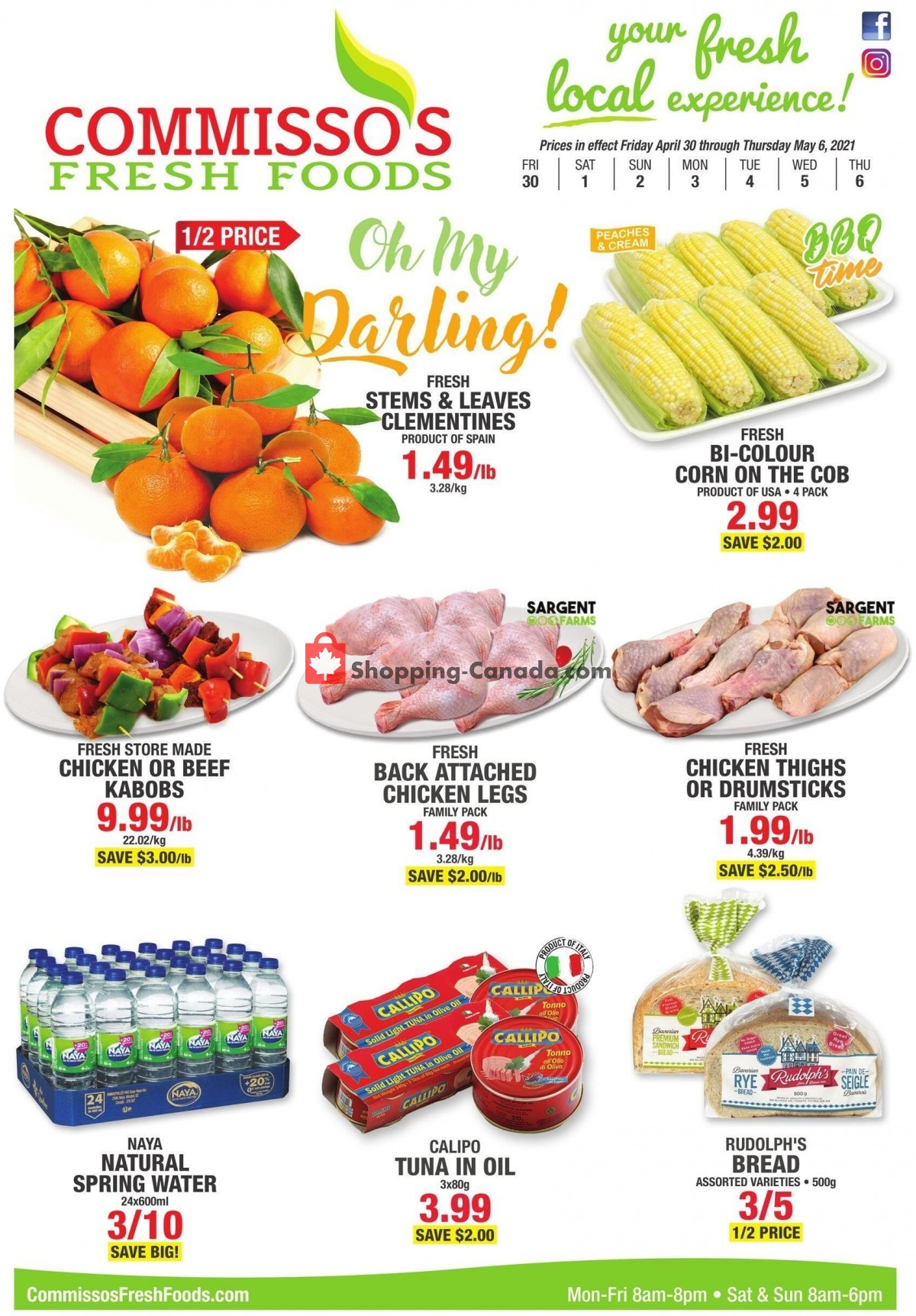 Flyer Commisso's Fresh Foods Canada - from Friday April 30, 2021 to Thursday May 6, 2021