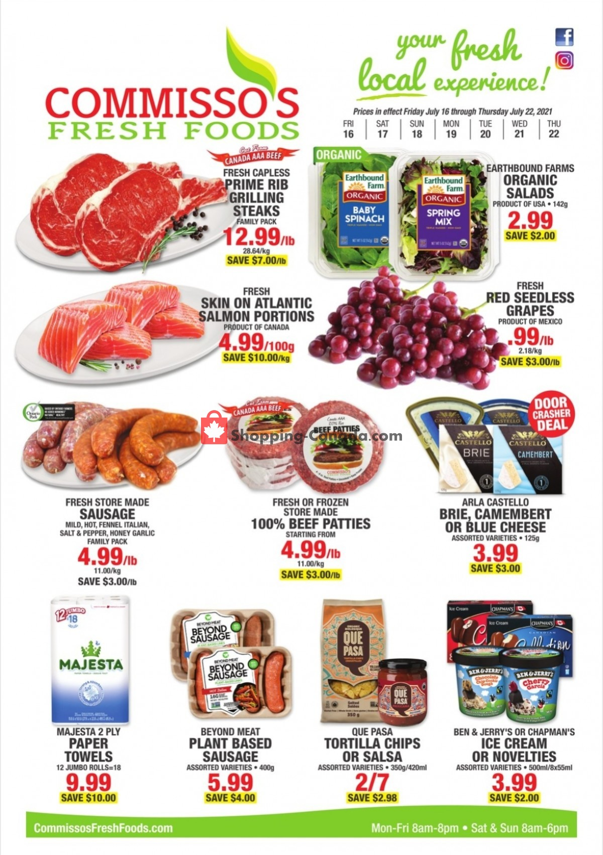 Flyer Commisso's Fresh Foods Canada - from Friday July 16, 2021 to Thursday July 22, 2021