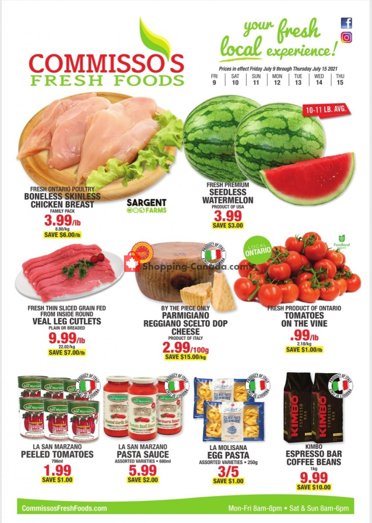 Flyer Commisso's Fresh Foods Canada - from Friday July 9, 2021 to Thursday July 15, 2021