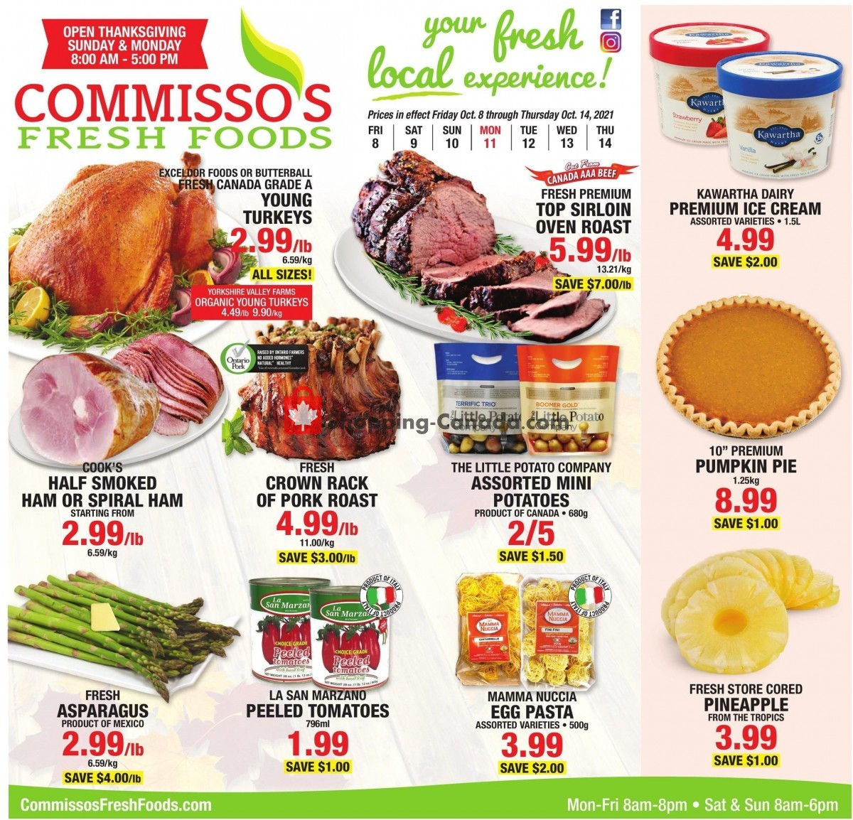 Flyer Commisso's Fresh Foods Canada - from Friday October 8, 2021 to Thursday October 14, 2021