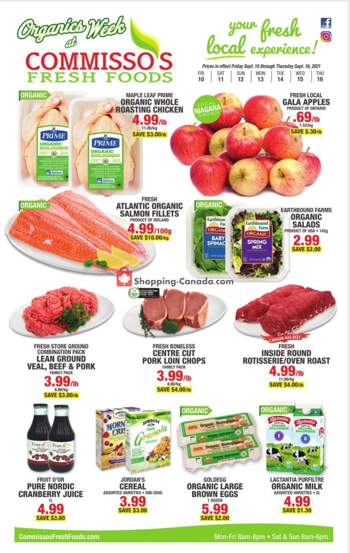 Flyer Commisso's Fresh Foods Canada - from Friday September 10, 2021 to Thursday September 16, 2021