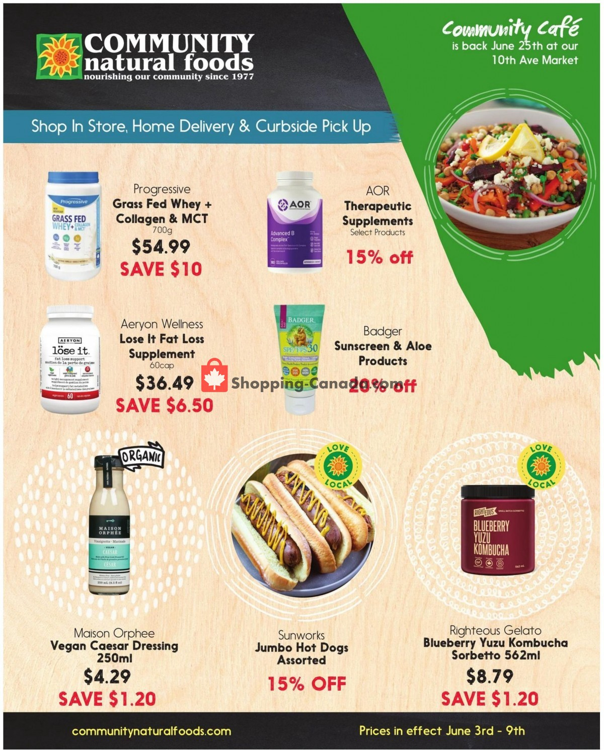 Flyer Community Natural Foods Canada - from Thursday June 3, 2021 to Wednesday June 9, 2021