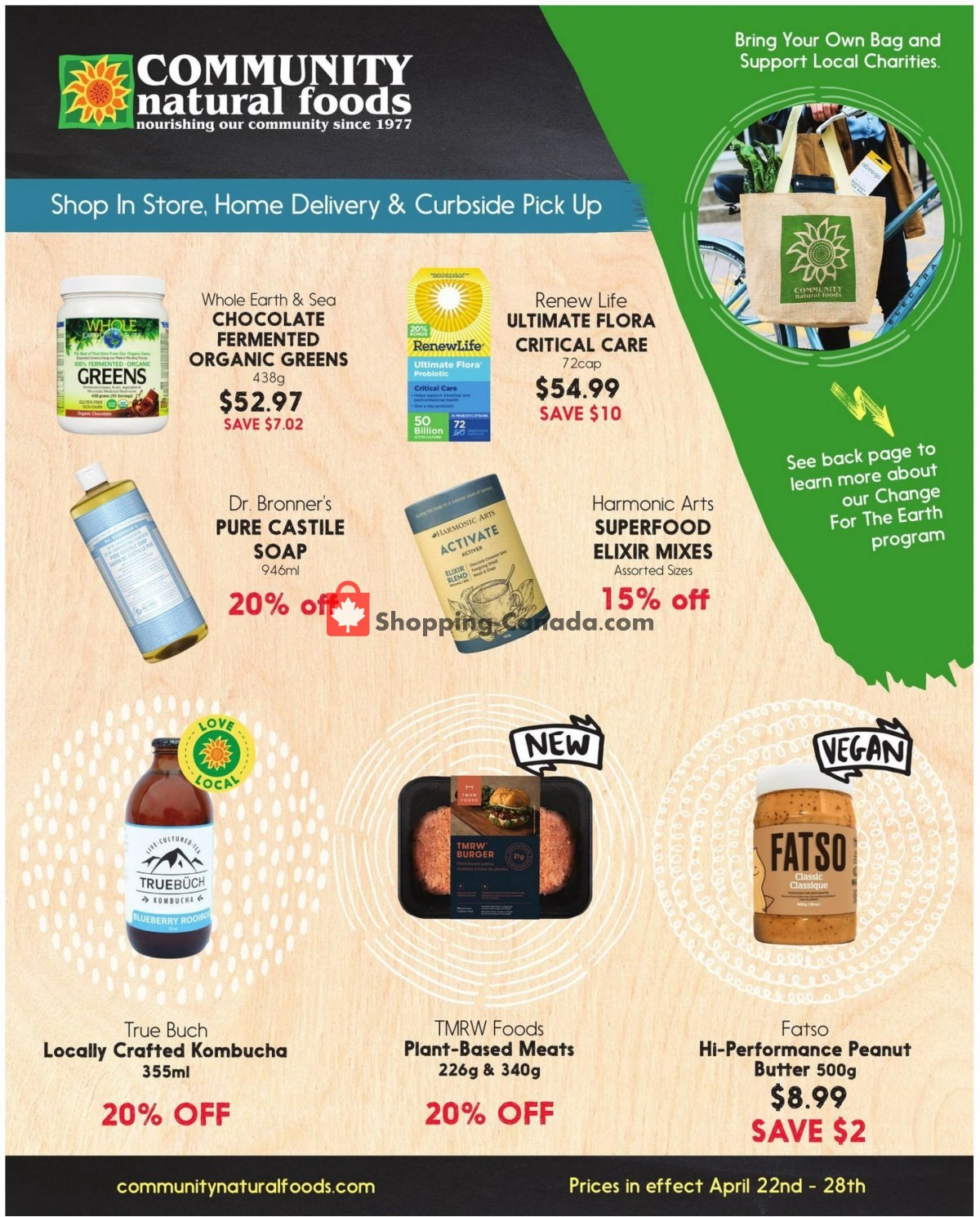 Flyer Community Natural Foods Canada - from Thursday April 22, 2021 to Wednesday April 28, 2021