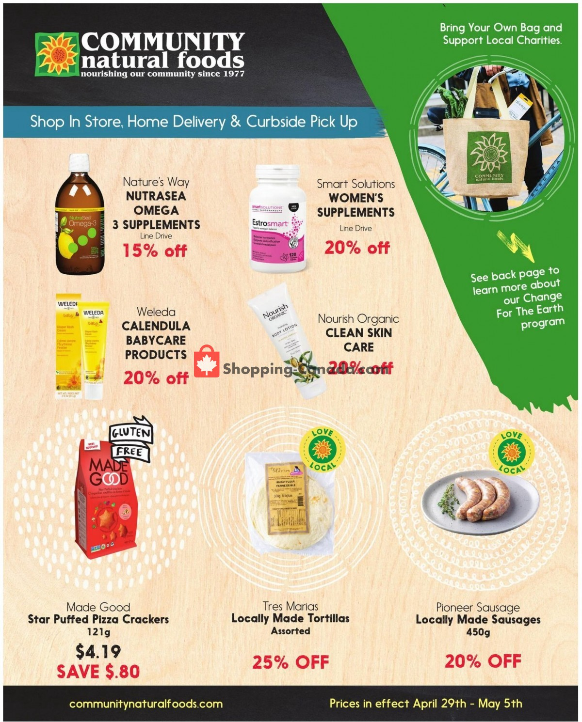 Flyer Community Natural Foods Canada - from Thursday April 29, 2021 to Wednesday May 5, 2021