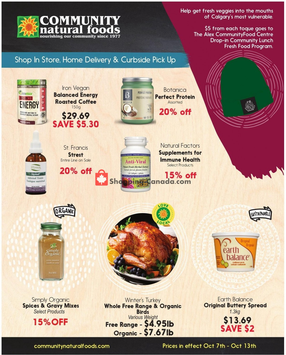Flyer Community Natural Foods Canada - from Thursday October 7, 2021 to Wednesday October 13, 2021