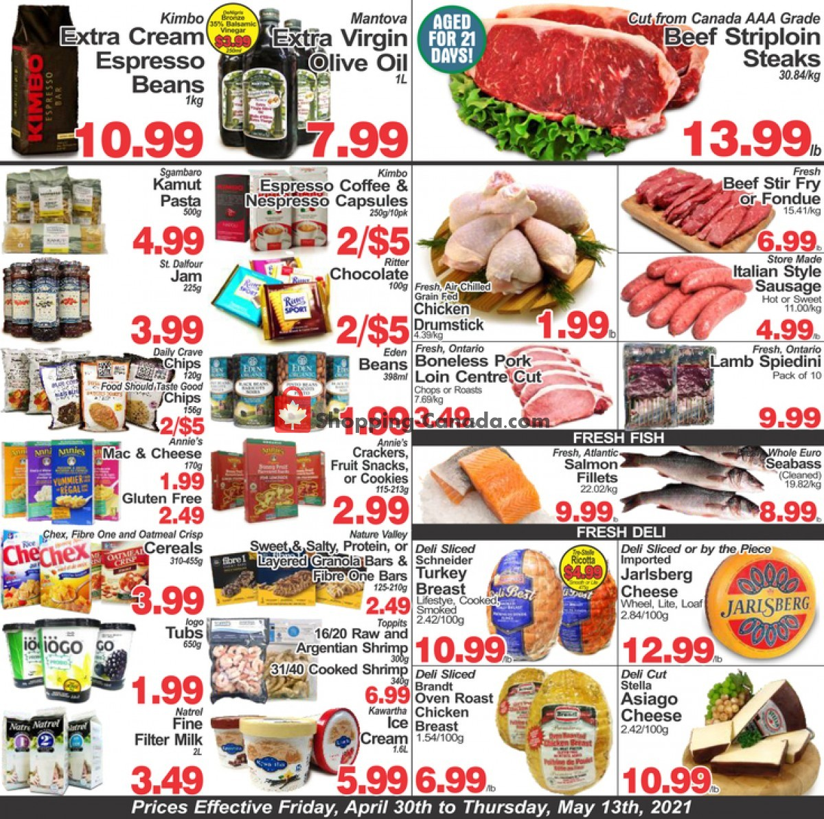 Flyer Concord Food Centre & Oak Ridges Food Market Canada - from Friday April 30, 2021 to Thursday May 13, 2021
