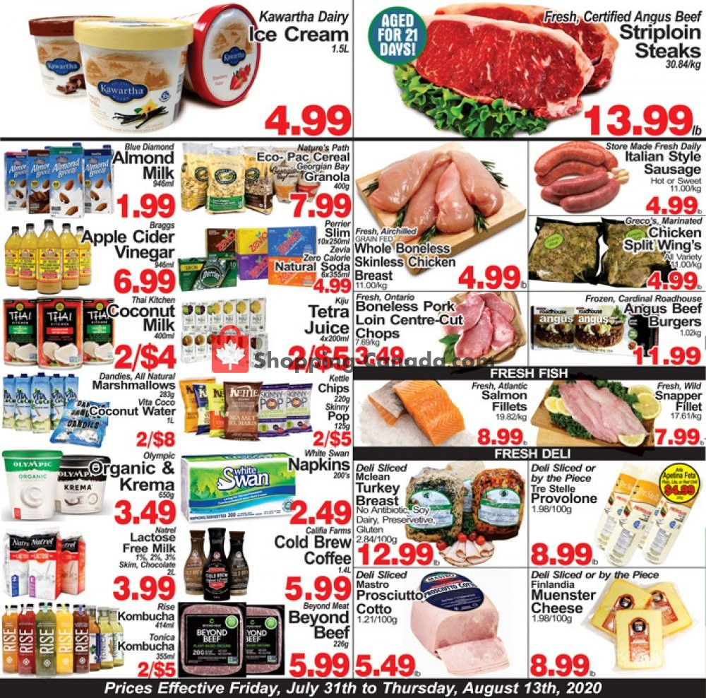 Flyer Concord Food Centre & Oak Ridges Food Market Canada - from Friday July 31, 2020 to Thursday August 13, 2020