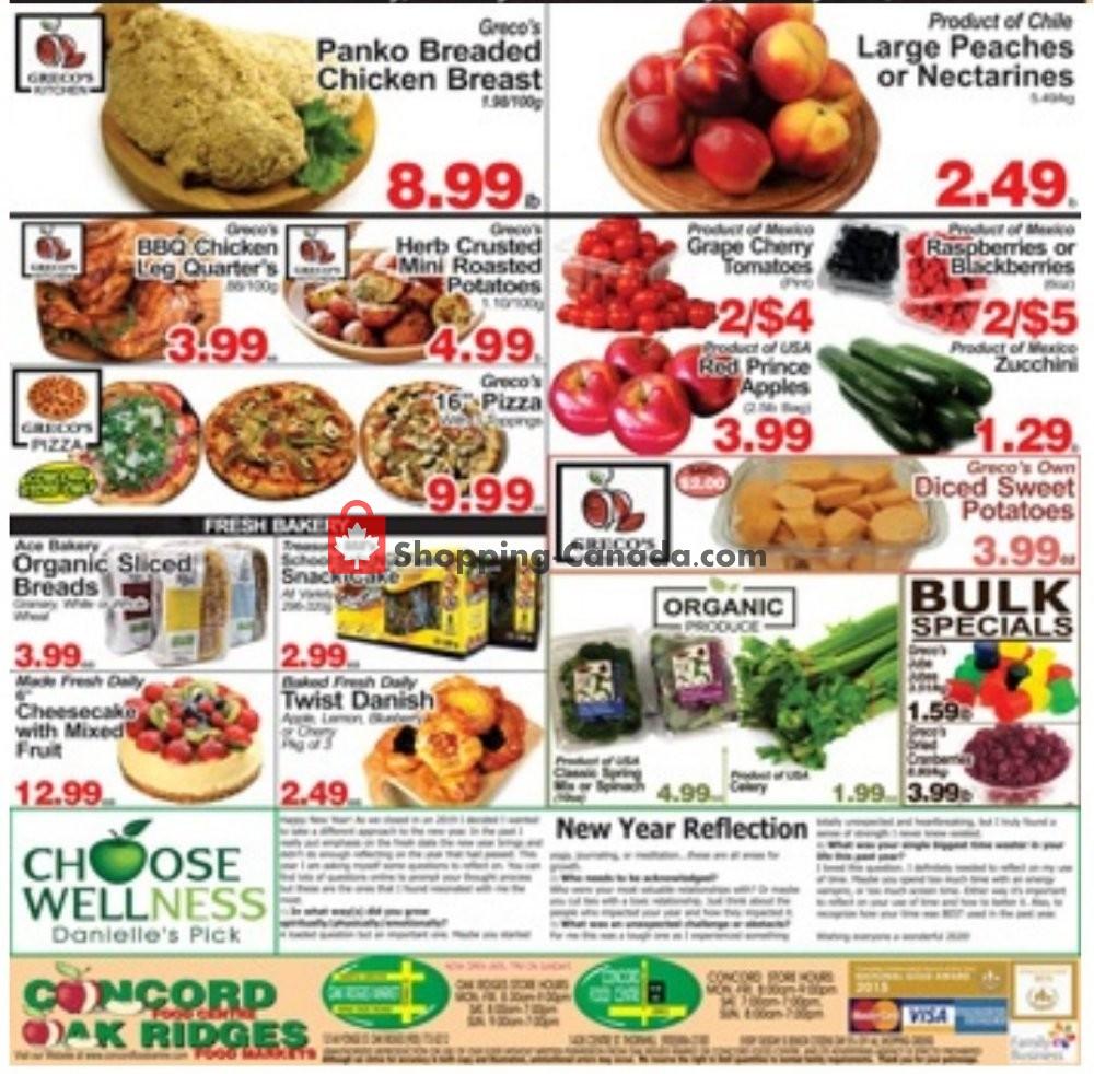 Flyer Concord Food Centre & Oak Ridges Food Market Canada - from Friday January 10, 2020 to Thursday January 23, 2020