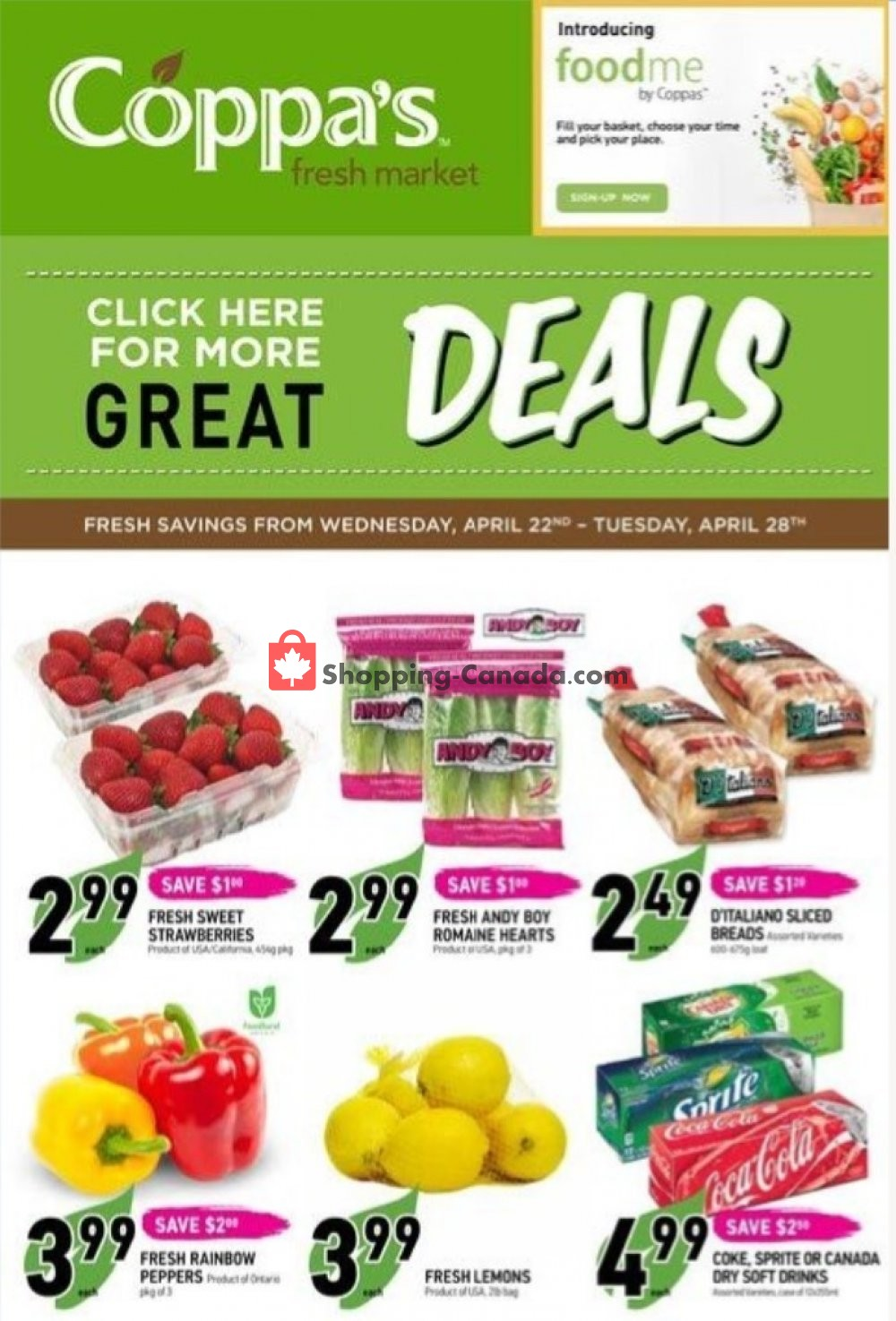 Flyer Coppa's Fresh Market Canada - from Wednesday April 22, 2020 to Tuesday April 28, 2020