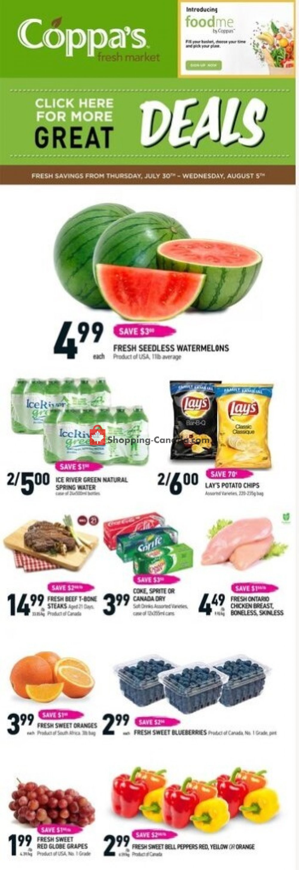 Flyer Coppa's Fresh Market Canada - from Thursday July 30, 2020 to Wednesday August 5, 2020