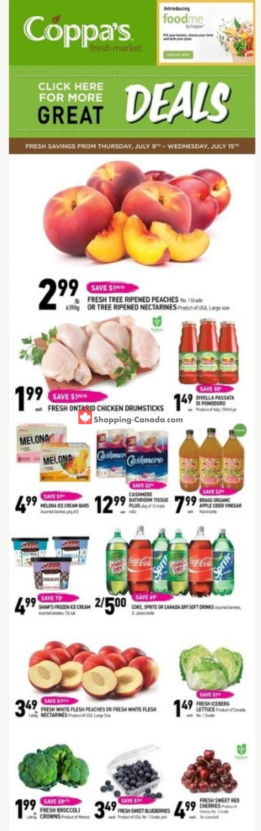 Flyer Coppa's Fresh Market Canada - from Thursday July 9, 2020 to Wednesday July 15, 2020