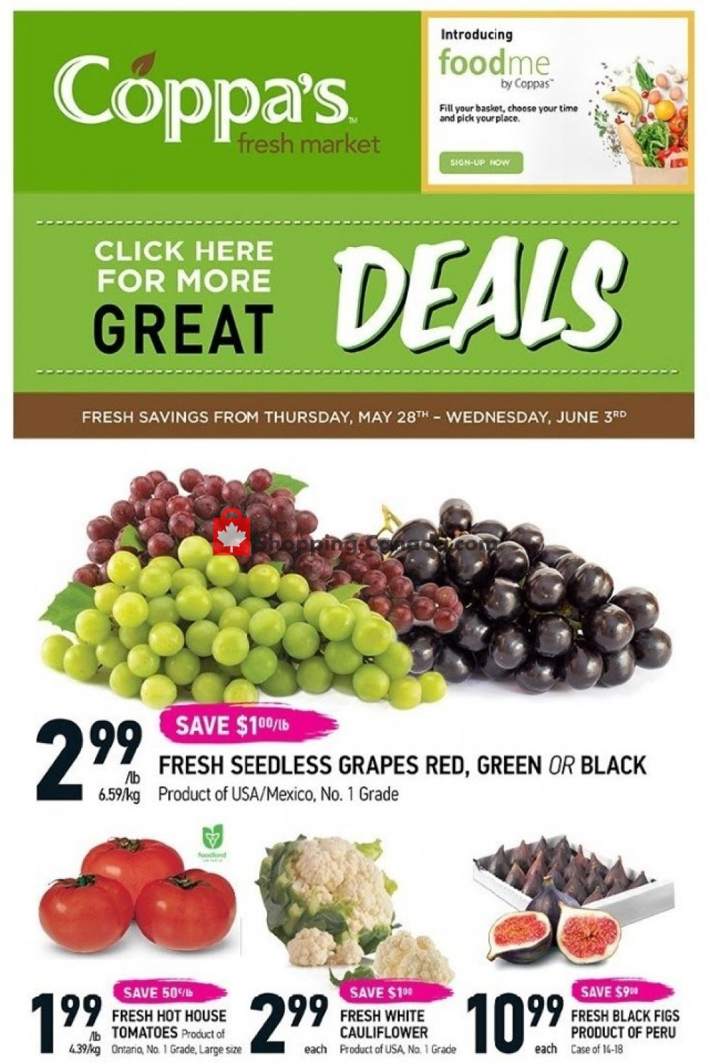 Flyer Coppa's Fresh Market Canada - from Thursday May 28, 2020 to Wednesday June 3, 2020