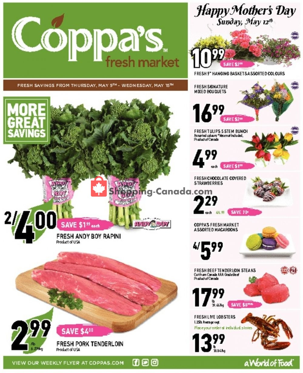Flyer Coppa's Fresh Market Canada - from Thursday May 9, 2019 to Wednesday May 15, 2019