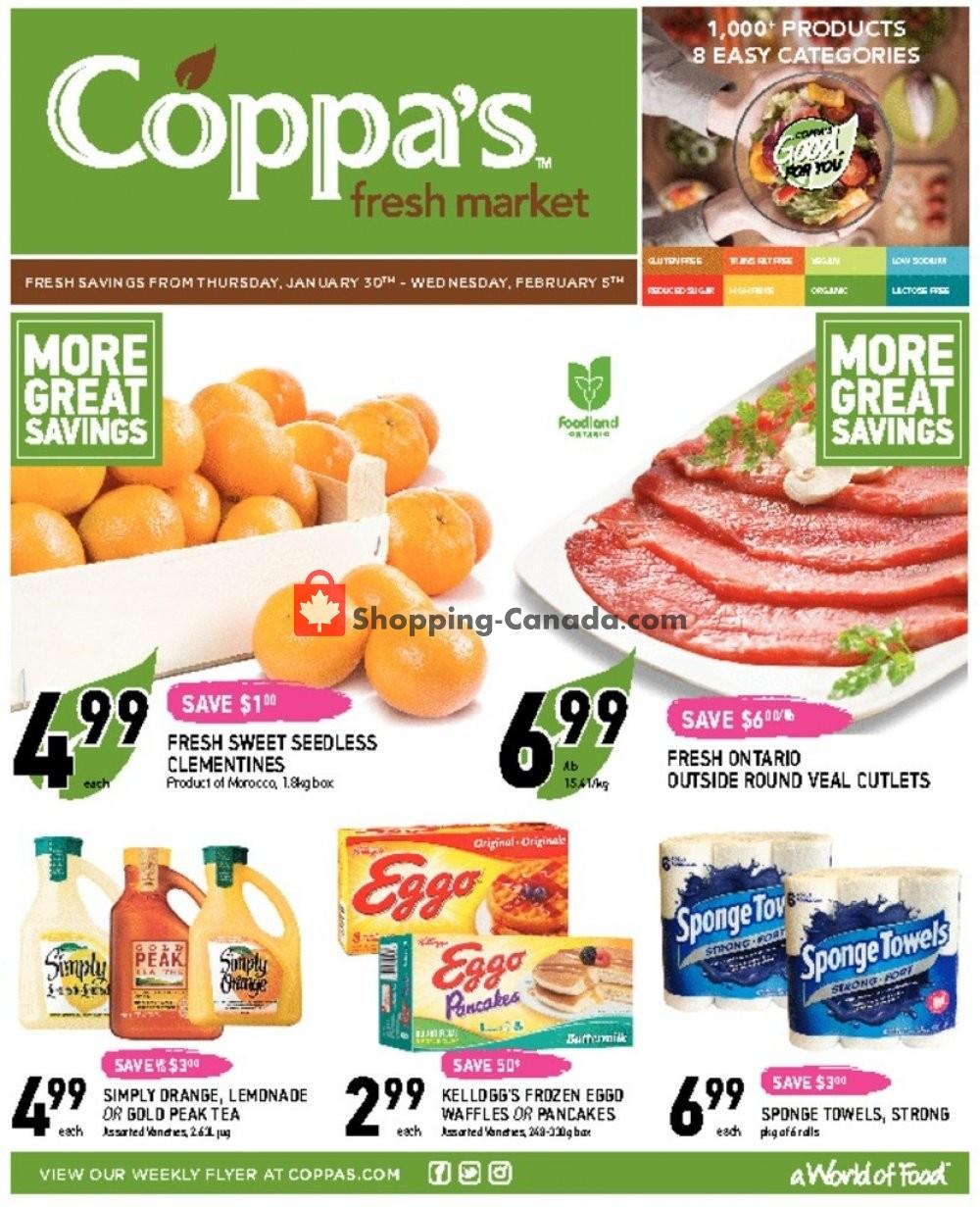 Flyer Coppa's Fresh Market Canada - from Thursday January 30, 2020 to Wednesday February 5, 2020