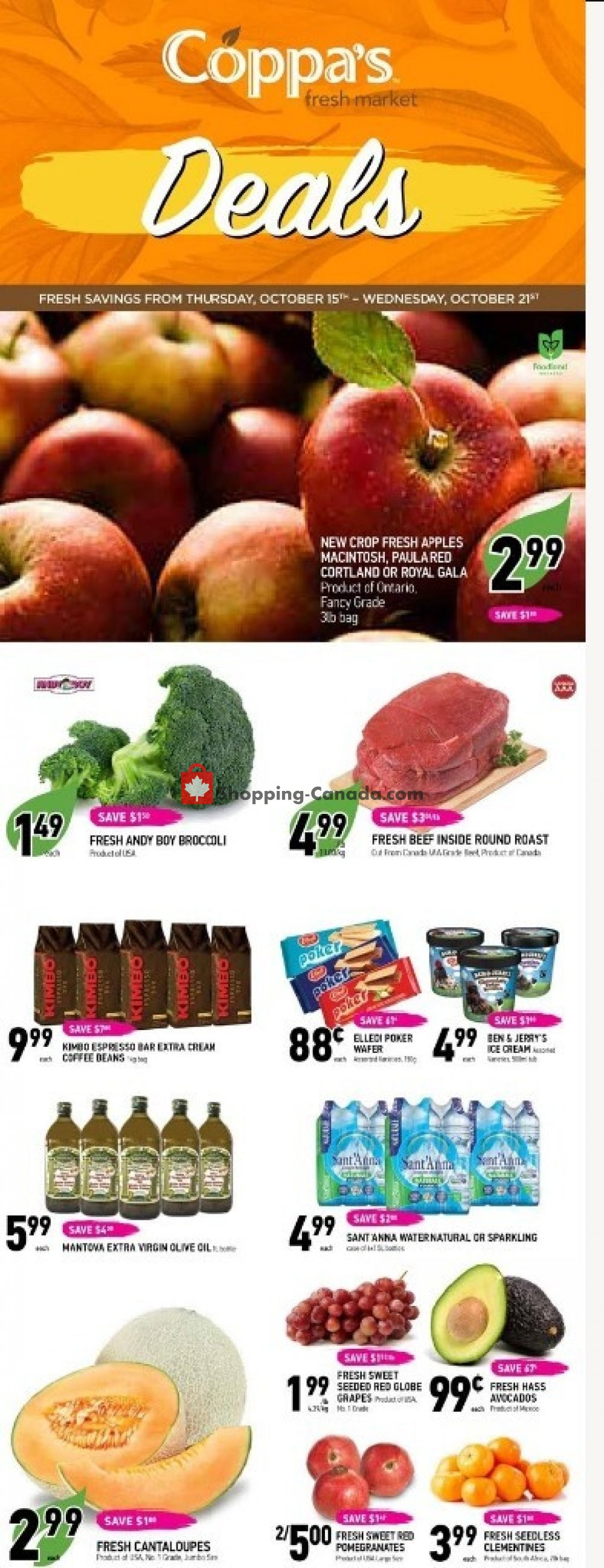 Flyer Coppa's Fresh Market Canada - from Thursday October 15, 2020 to Wednesday October 21, 2020