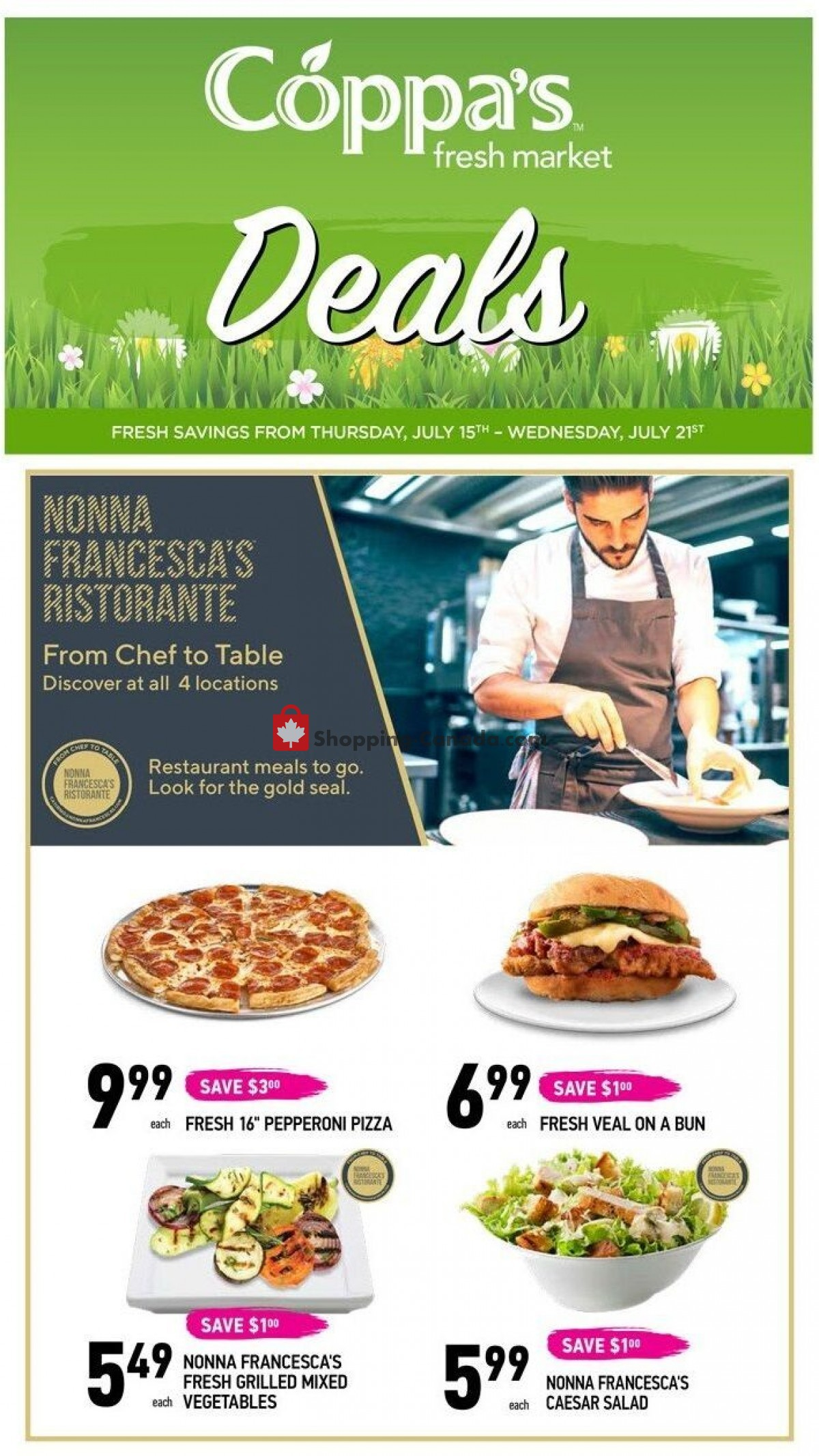 Flyer Coppa's Fresh Market Canada - from Thursday July 15, 2021 to Wednesday July 21, 2021