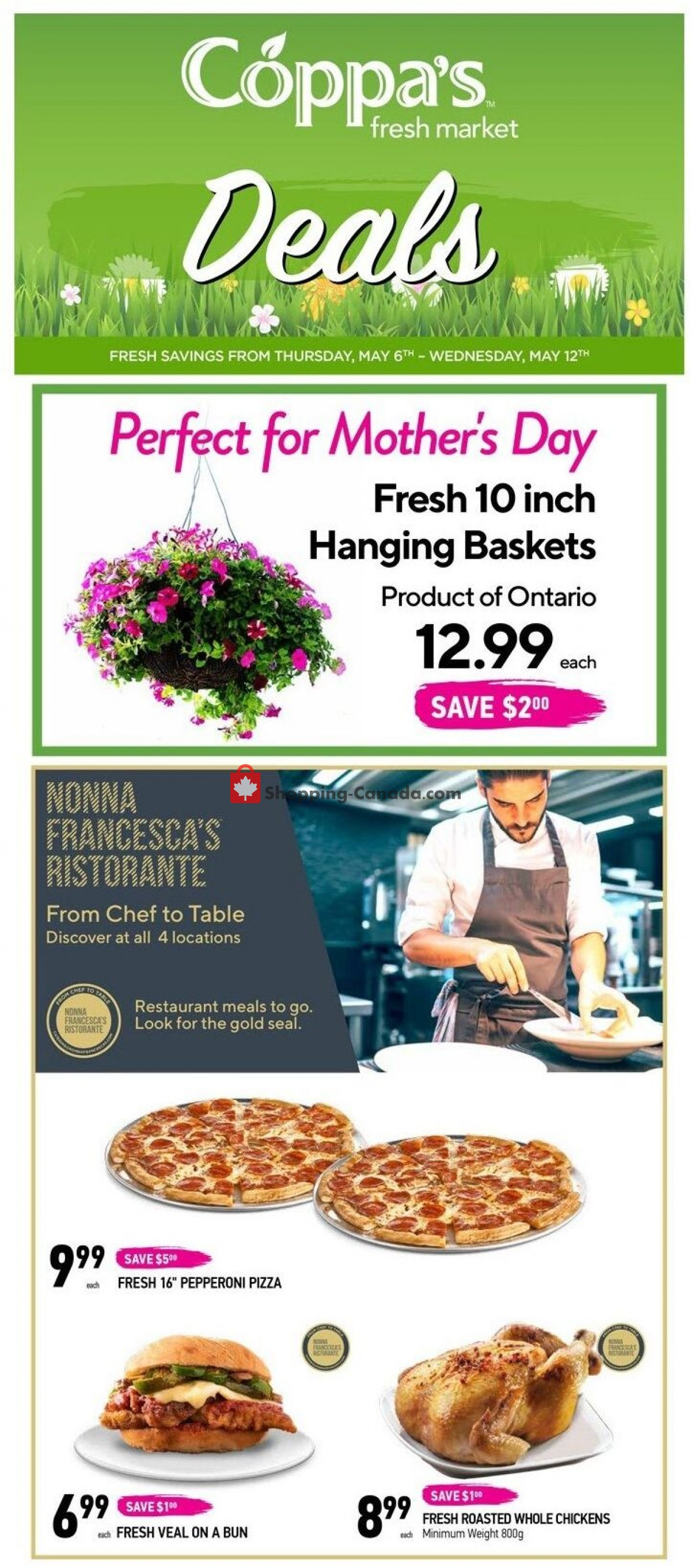 Flyer Coppa's Fresh Market Canada - from Thursday May 6, 2021 to Wednesday May 12, 2021