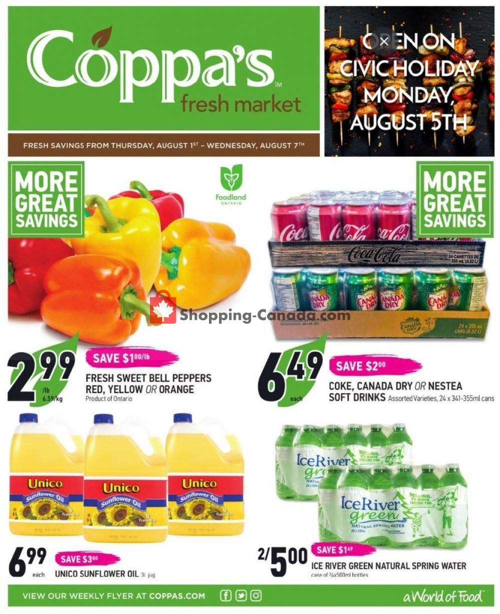 Flyer Coppa's Fresh Market Canada - from Thursday August 1, 2019 to Wednesday August 7, 2019