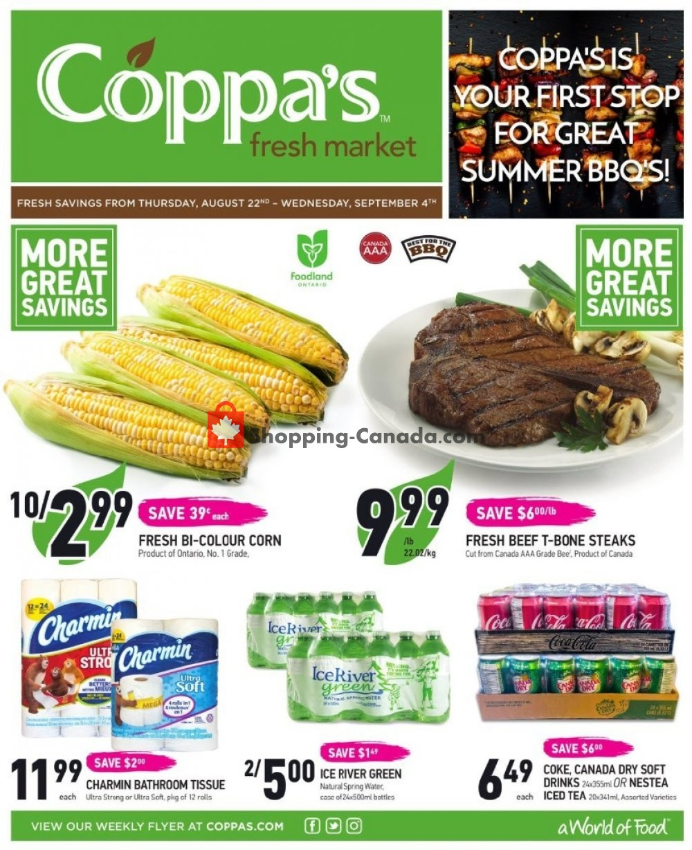 Flyer Coppa's Fresh Market Canada - from Thursday August 22, 2019 to Wednesday September 4, 2019