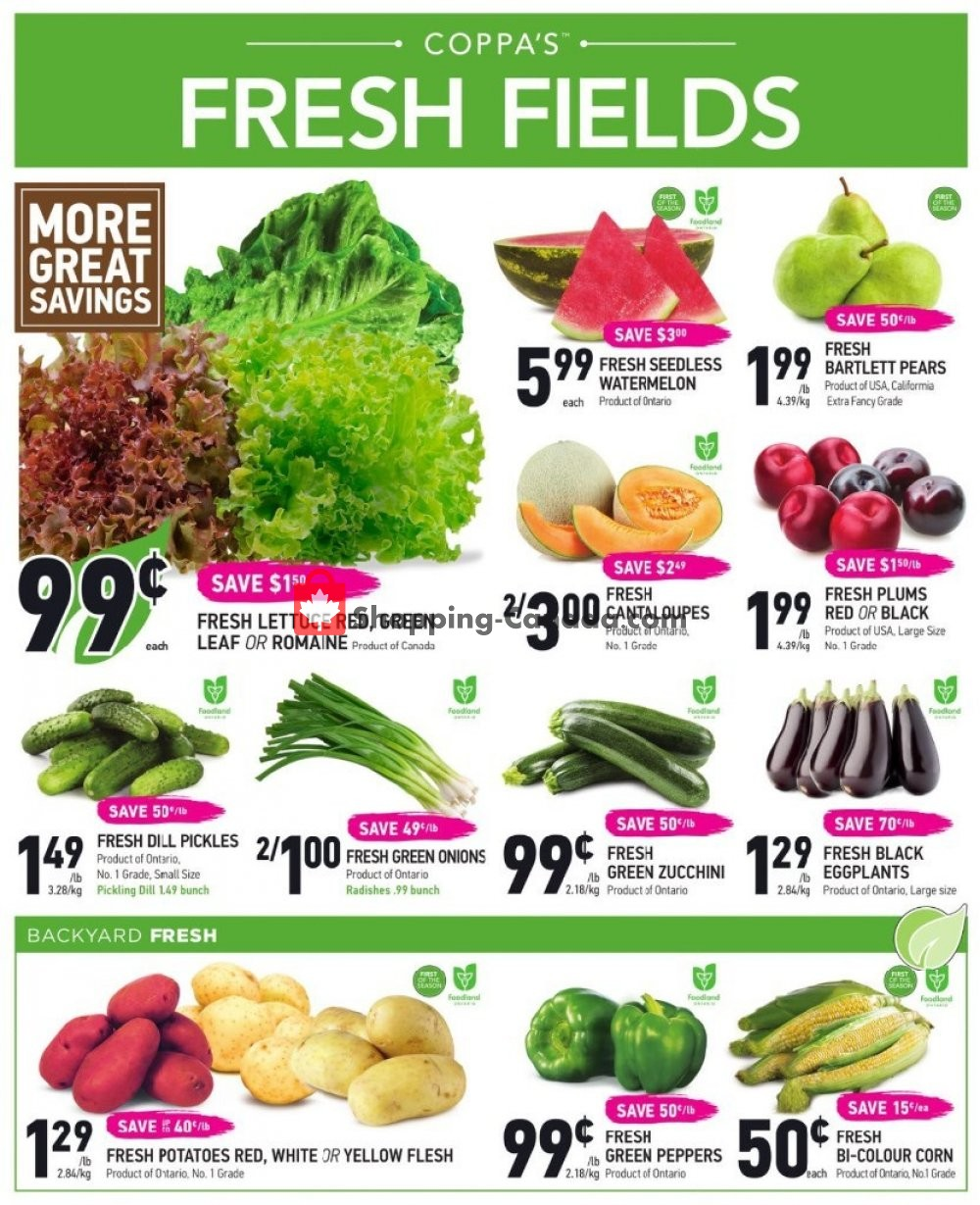 Flyer Coppa's Fresh Market Canada - from Thursday August 8, 2019 to Wednesday August 21, 2019