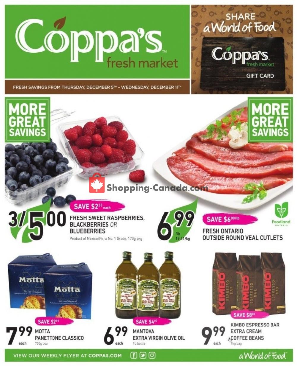 Flyer Coppa's Fresh Market Canada - from Thursday December 5, 2019 to Wednesday December 11, 2019