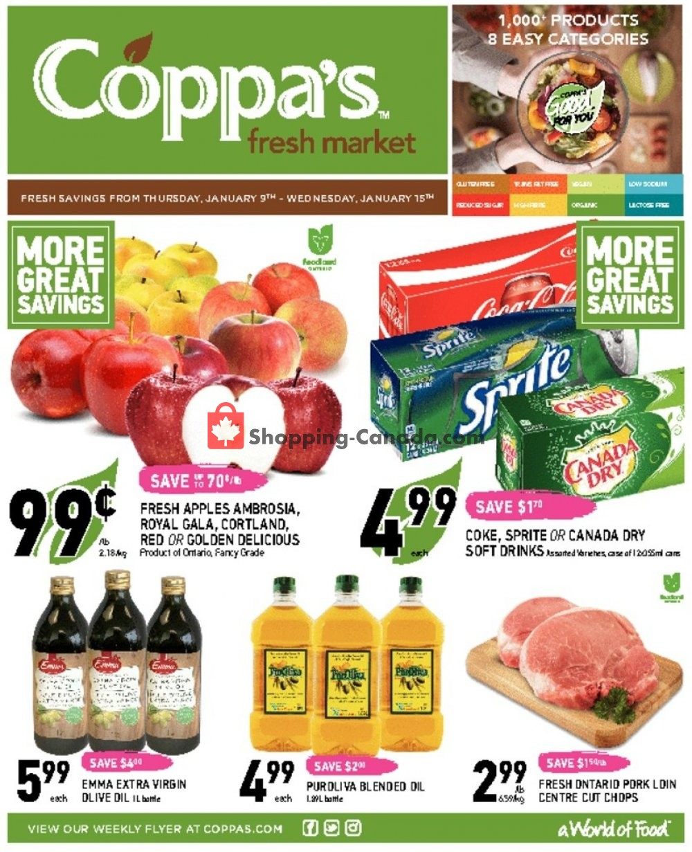 Flyer Coppa's Fresh Market Canada - from Thursday January 9, 2020 to Wednesday January 15, 2020