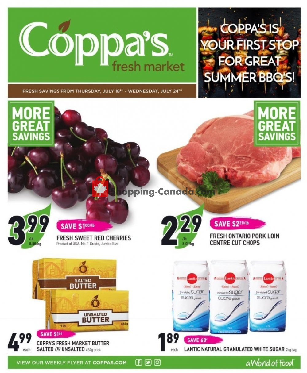 Flyer Coppa's Fresh Market Canada - from Thursday July 18, 2019 to Wednesday July 24, 2019