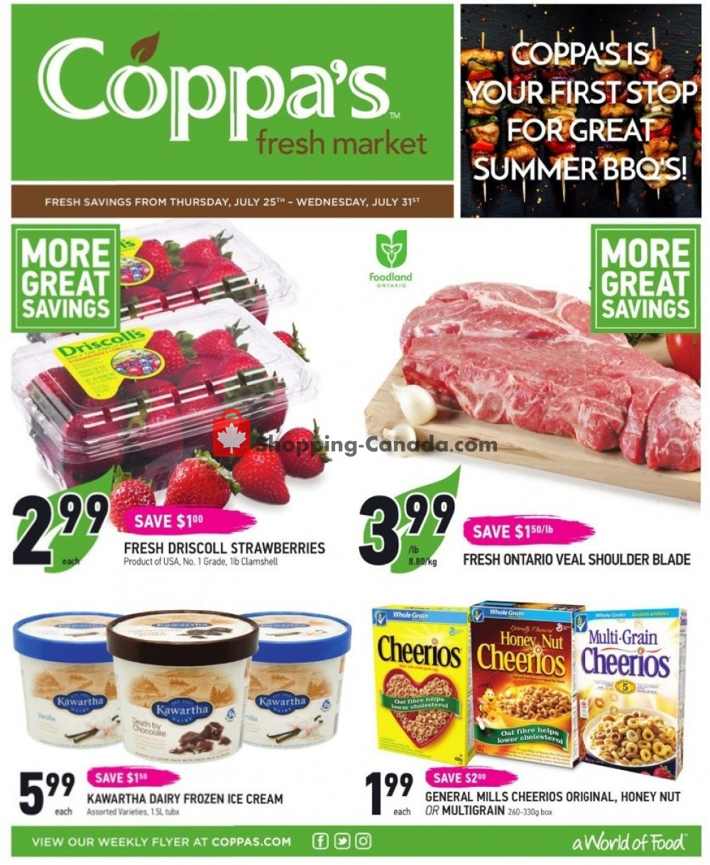 Flyer Coppa's Fresh Market Canada - from Friday July 26, 2019 to Thursday August 1, 2019
