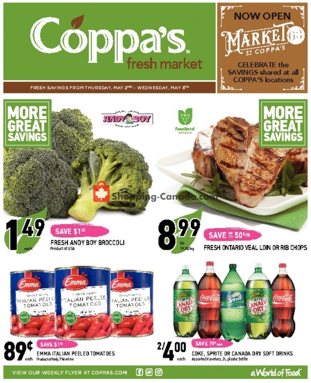 Flyer Coppa's Fresh Market Canada - from Thursday May 2, 2019 to Wednesday May 8, 2019