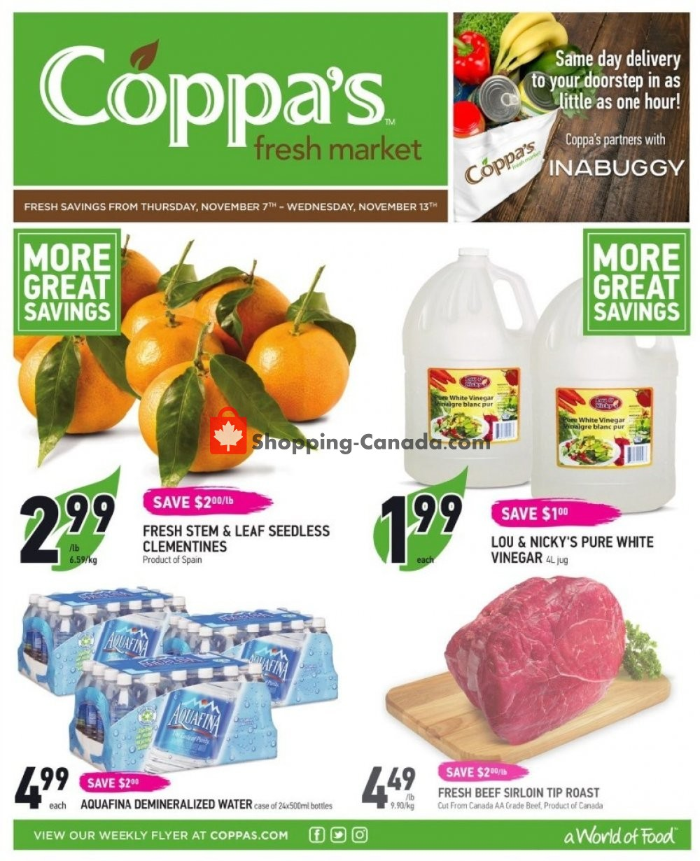 Flyer Coppa's Fresh Market Canada - from Thursday November 7, 2019 to Wednesday November 13, 2019