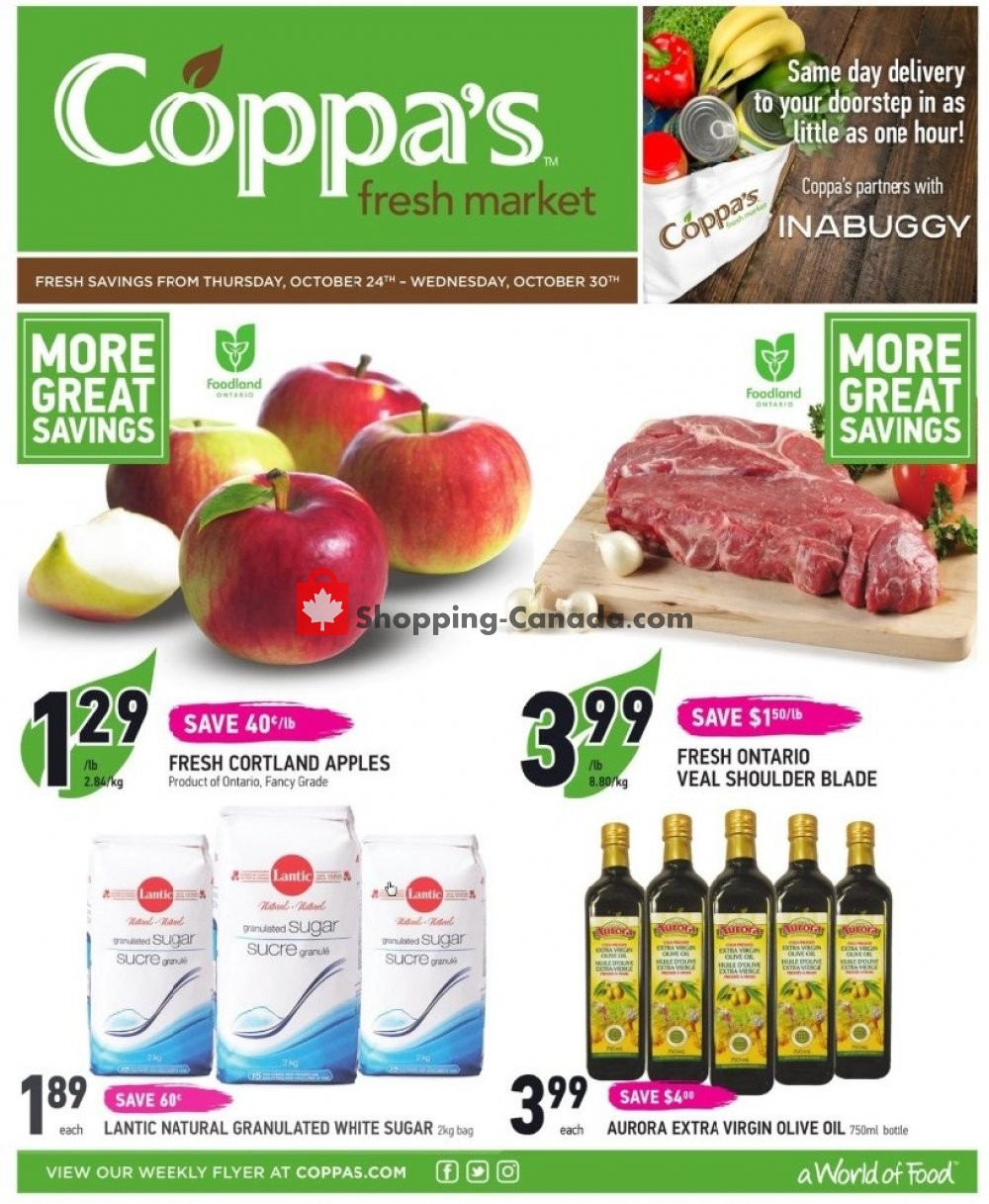 Flyer Coppa's Fresh Market Canada - from Thursday October 24, 2019 to Wednesday October 30, 2019