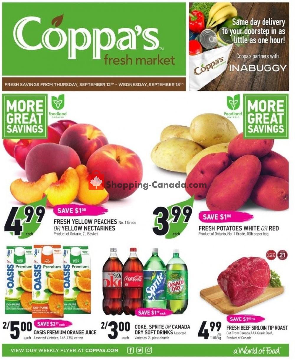 Flyer Coppa's Fresh Market Canada - from Thursday September 12, 2019 to Wednesday September 18, 2019