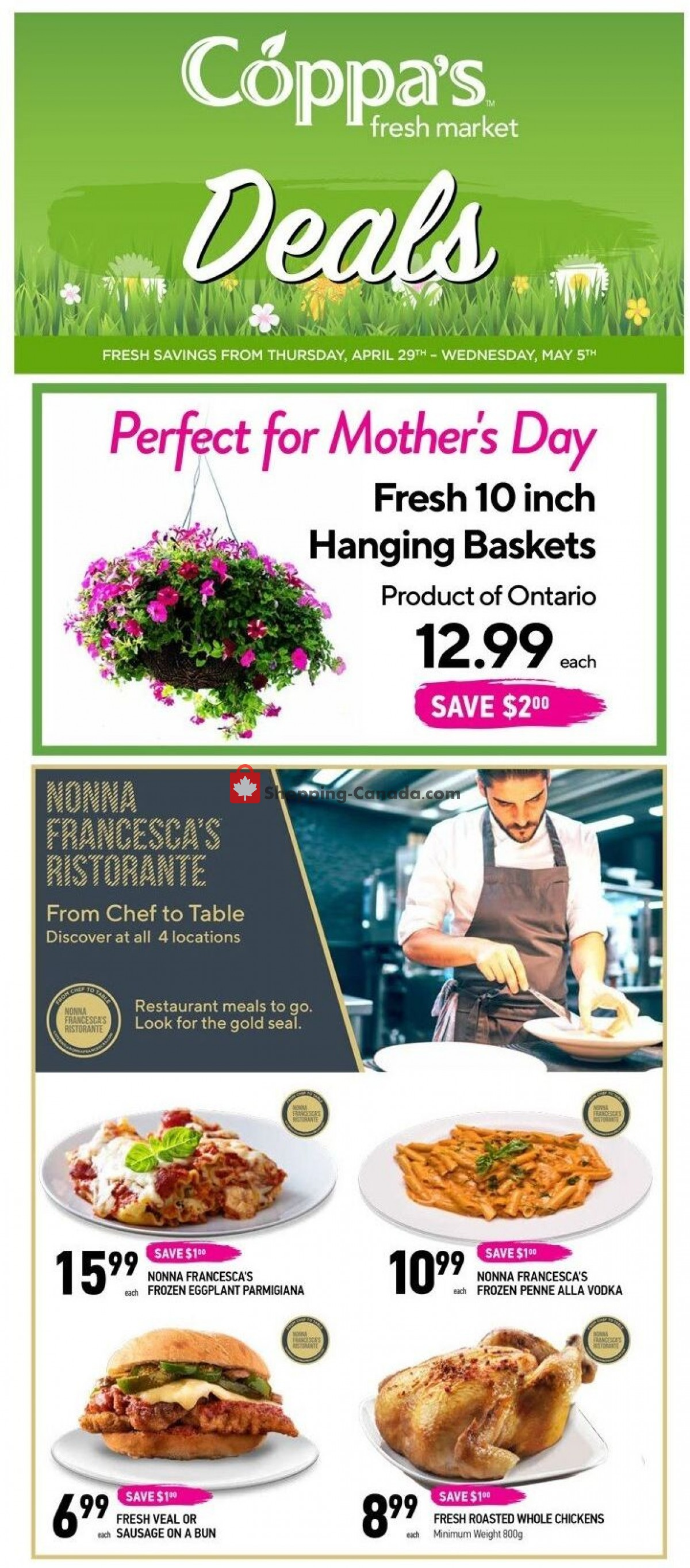 Flyer Coppa's Fresh Market Canada - from Thursday April 29, 2021 to Wednesday May 5, 2021