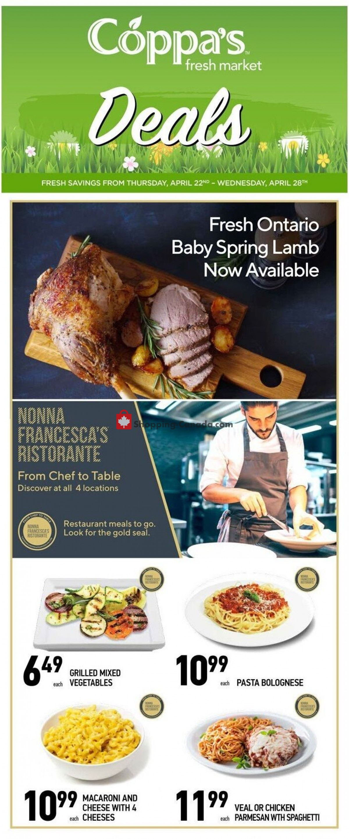 Flyer Coppa's Fresh Market Canada - from Thursday April 22, 2021 to Wednesday April 28, 2021