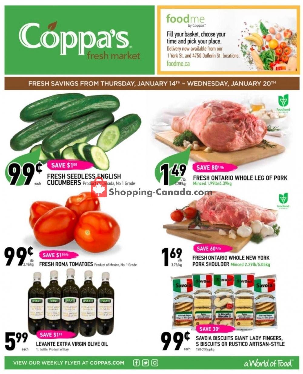 Flyer Coppa's Fresh Market Canada - from Thursday January 14, 2021 to Wednesday January 20, 2021