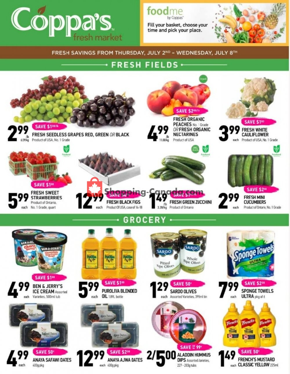 Flyer Coppa's Fresh Market Canada - from Thursday July 2, 2020 to Wednesday July 8, 2020