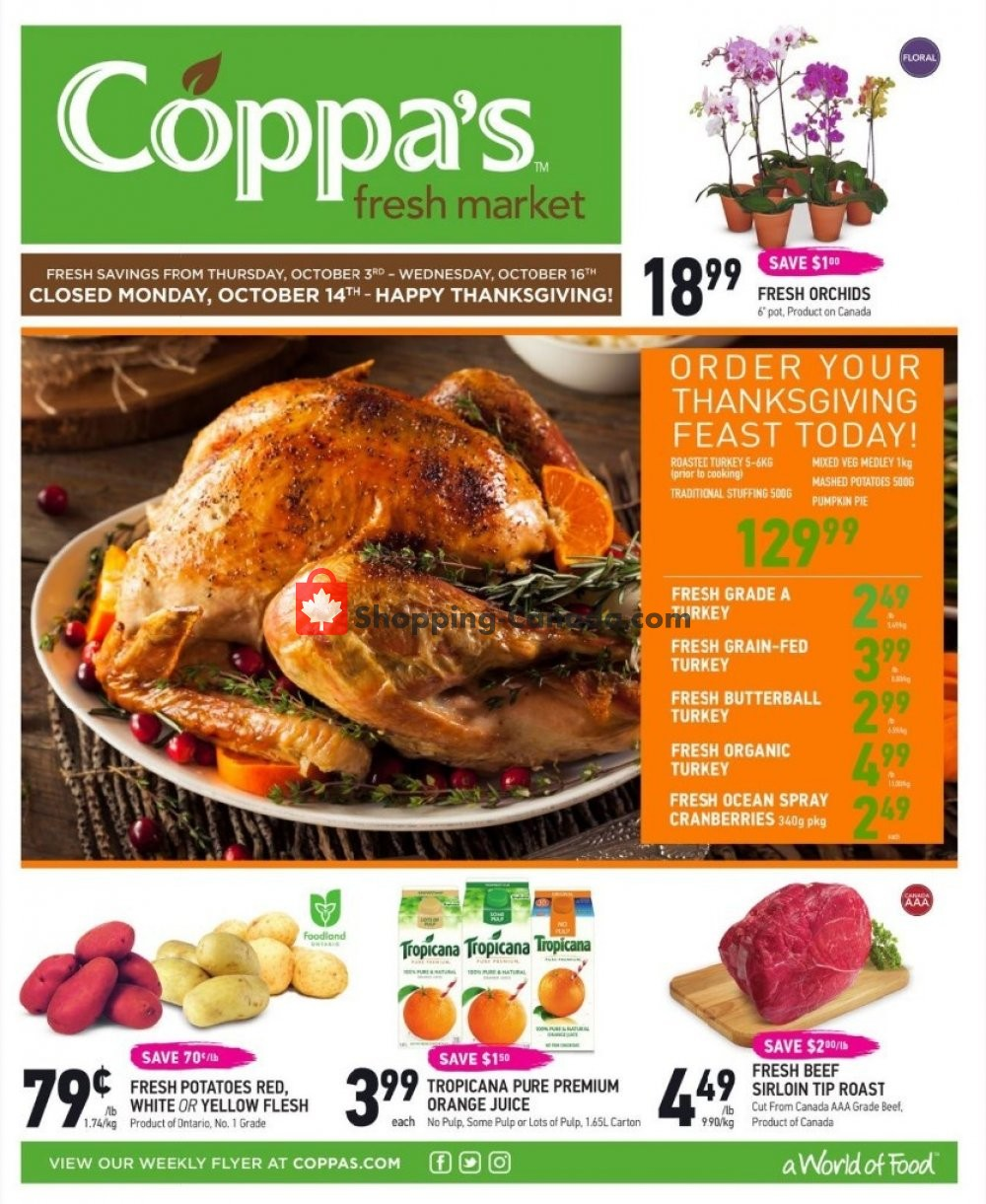 Flyer Coppa's Fresh Market Canada - from Thursday October 3, 2019 to Wednesday October 16, 2019