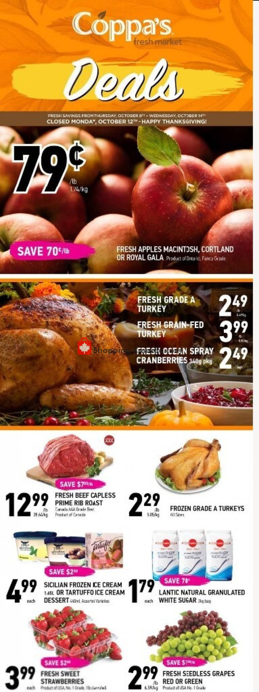 Flyer Coppa's Fresh Market Canada - from Thursday October 8, 2020 to Wednesday October 14, 2020