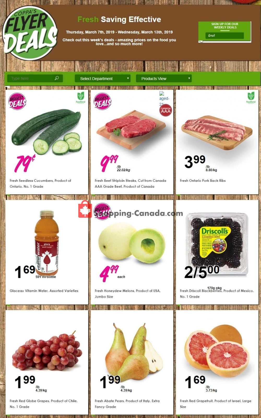 Flyer Coppa's Fresh Market Canada - from Thursday March 7, 2019 to Wednesday March 13, 2019