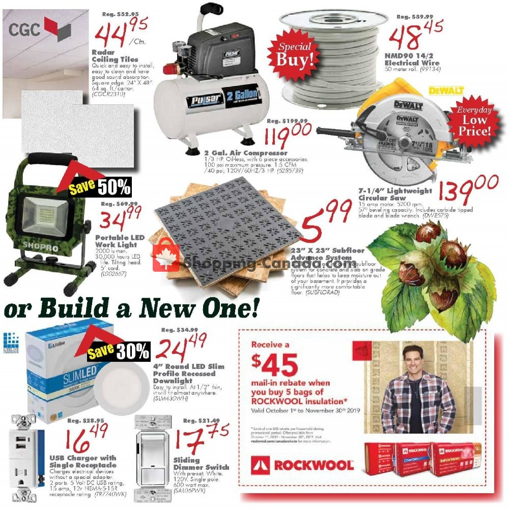 Flyer COPP's Buildall Canada - from Friday October 11, 2019 to Sunday October 27, 2019