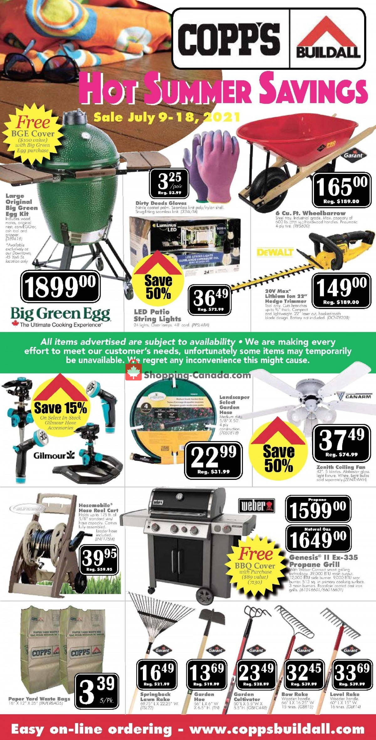 Flyer COPP's Buildall Canada - from Friday July 9, 2021 to Sunday July 18, 2021