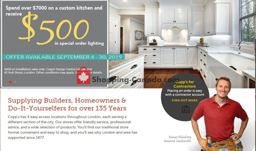 Flyer COPP's Buildall Canada - from Wednesday September 4, 2019 to Monday September 30, 2019