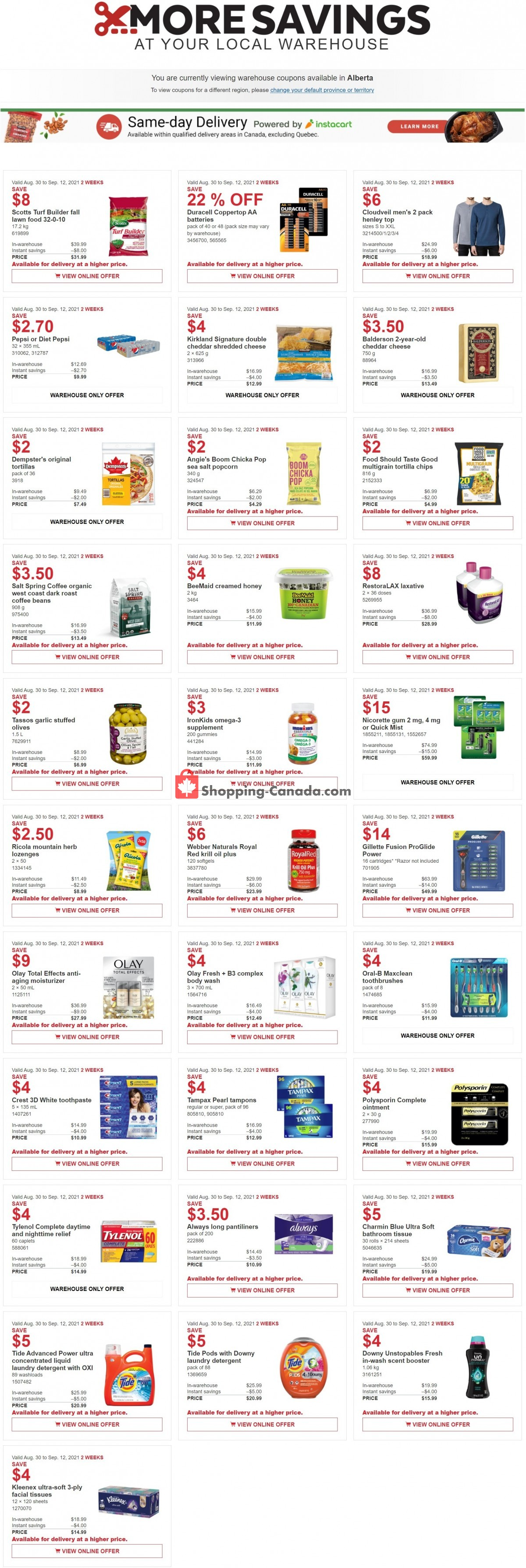 Flyer Costco Canada - from Monday September 6, 2021 to Sunday September 12, 2021