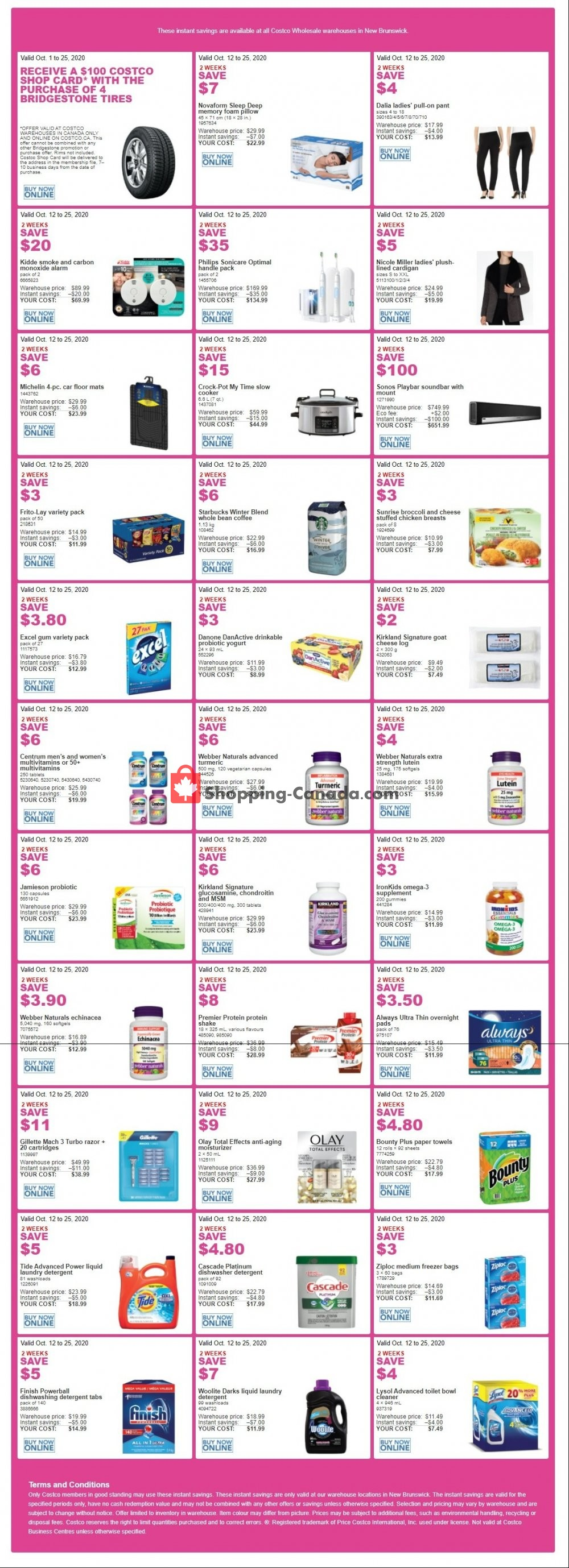 Flyer Costco Canada - from Monday October 12, 2020 to Sunday October 25, 2020