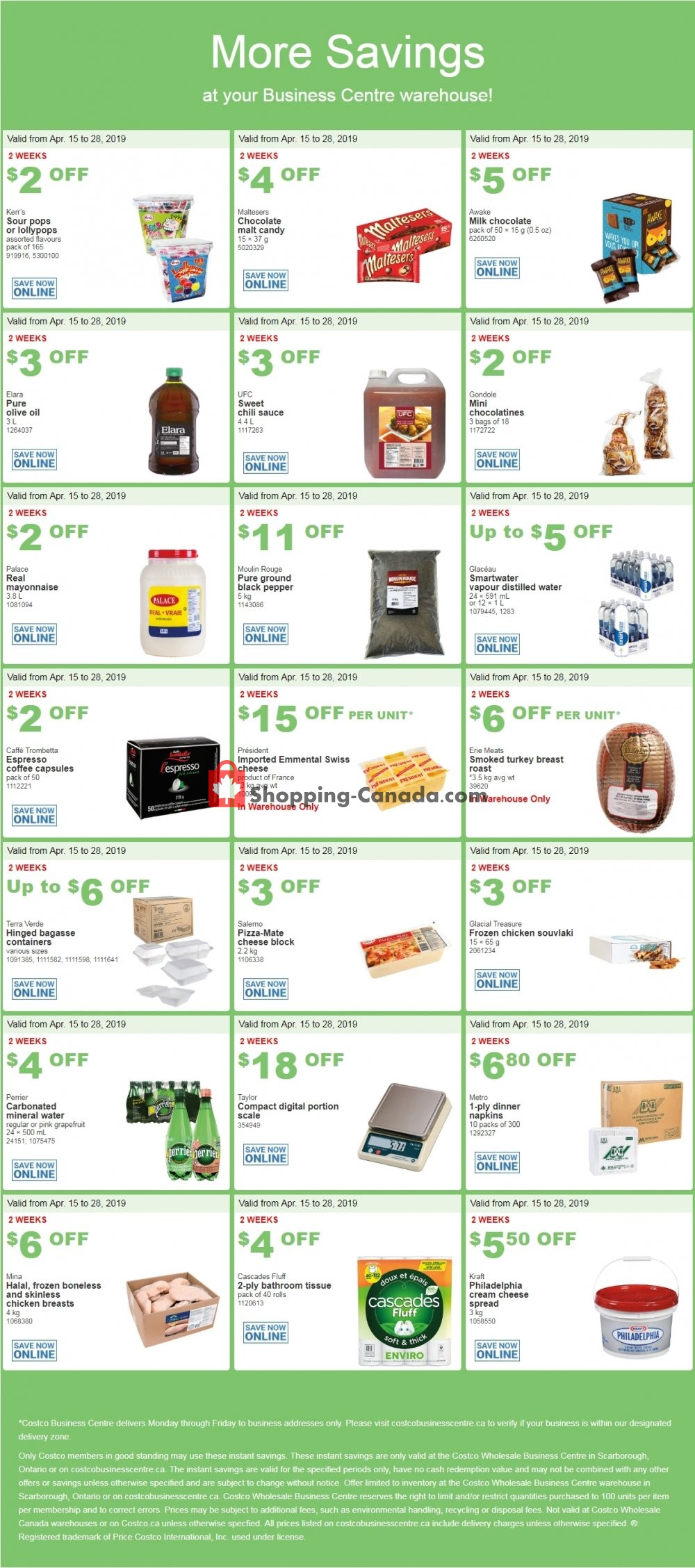 Flyer Costco Canada - from Monday April 15, 2019 to Sunday April 28, 2019