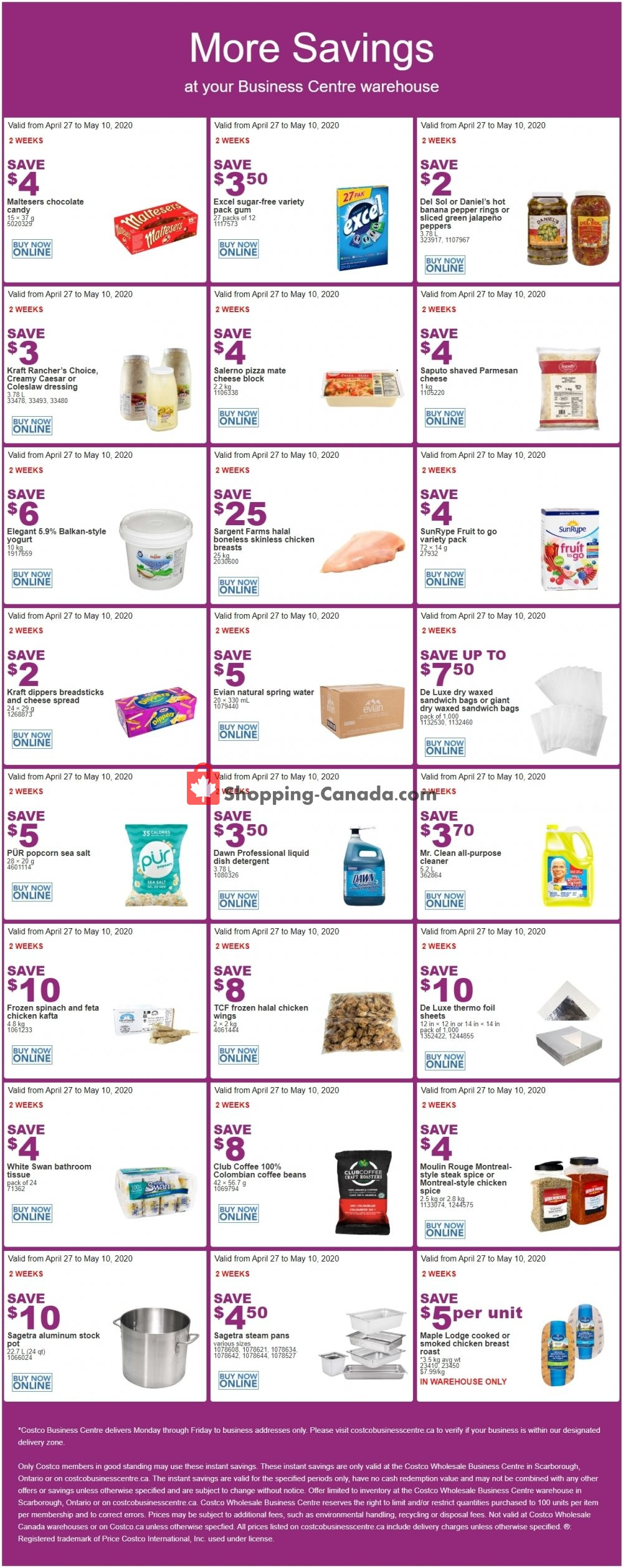 Flyer Costco Canada - from Monday April 27, 2020 to Sunday May 10, 2020
