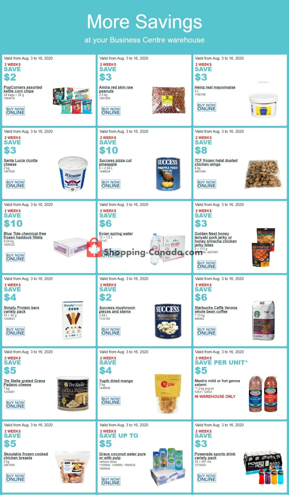 Flyer Costco Canada - from Monday August 3, 2020 to Sunday August 16, 2020